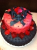Black and Red Fondant Cake